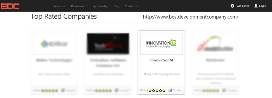 InnovationM on BDC homepage