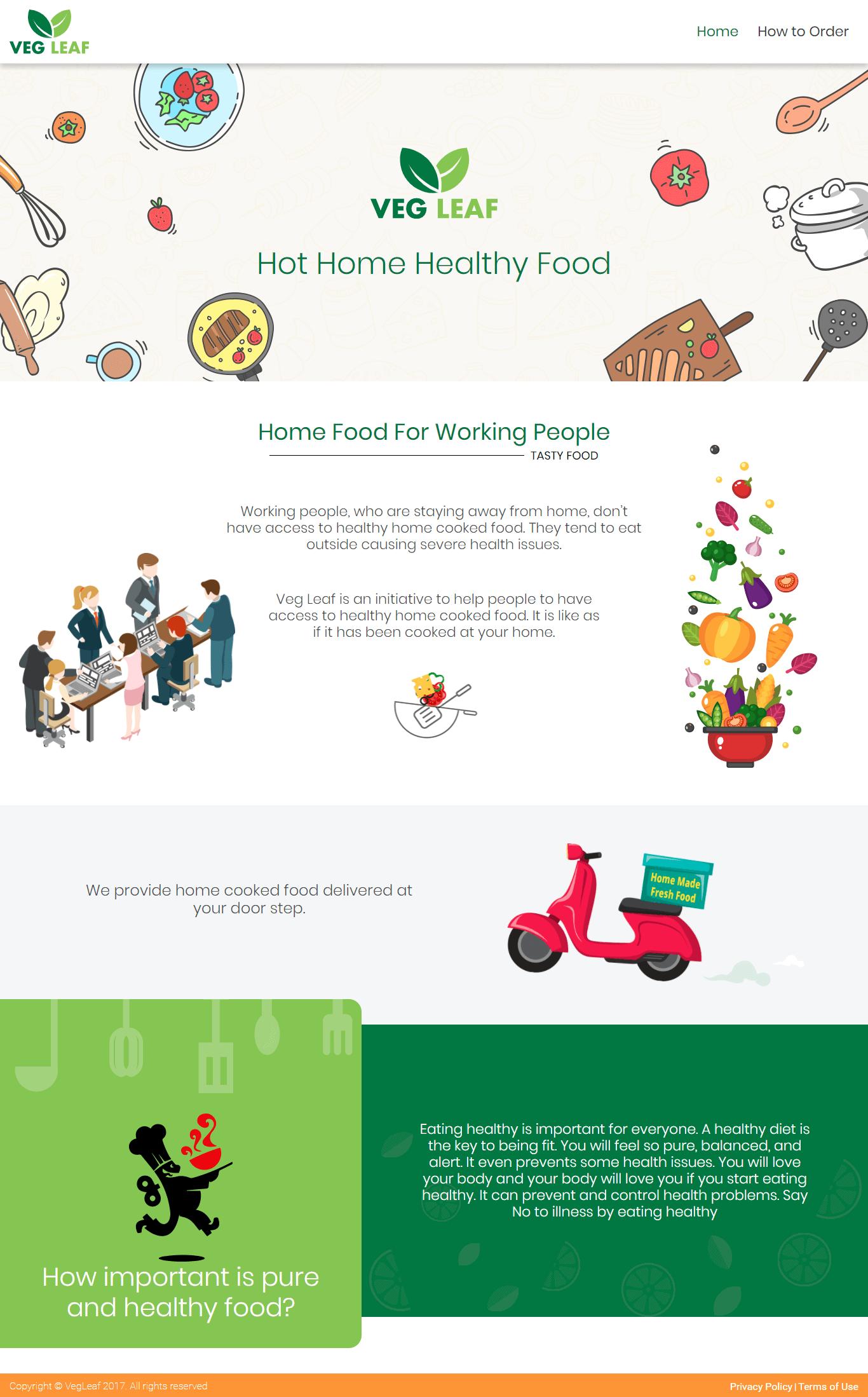 Veg Leaf Food Ordering Platform